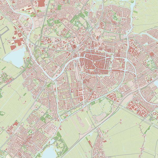 Kaart vanLeiden