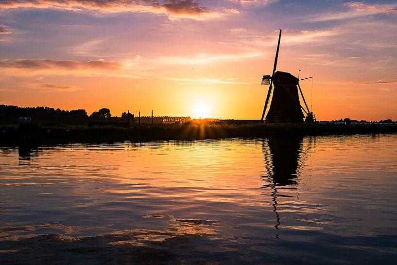 Windmill Reflection van Sake van Pelt