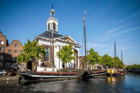 Lange haven in Schiedam, Netherlands