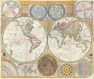 Kaart van de wereld 1794