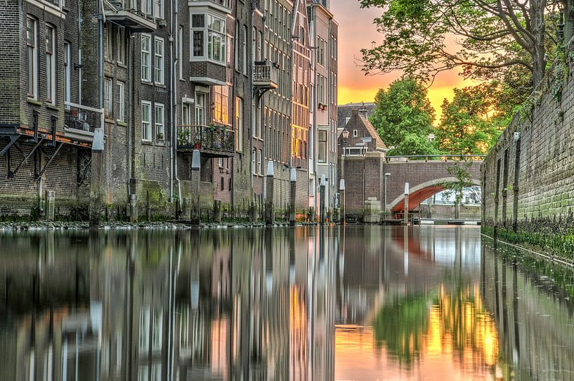 Avond in Dordrecht van Frans Blok