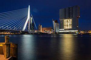 De Rotterdam by night van Jeffrey Tukker