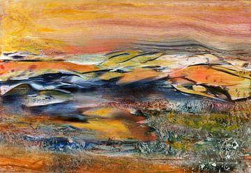Berge in Gelb von Claudia Gründler