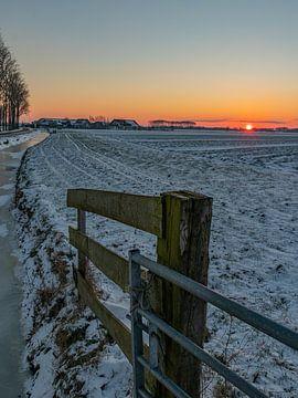 Winterlandschap I van Diane van Veen