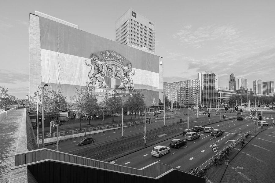 """Feyenoord """"Sterker door Strijd"""" op het Hofplein in Rotterdam van MS Fotografie"""