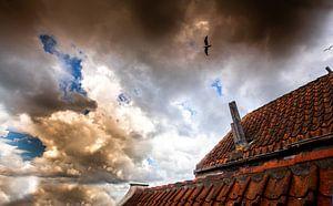 Bewölkter Himmel Goeree-Overflakkee von Jaap Reedijk