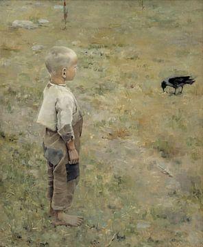 Garçon au corbeau, Akseli Gallen-Kallela sur
