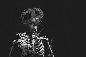 Leven en dood (zwart wit versie) van Elianne van Turennout