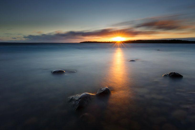 Zonsondergang in Zweden van Pim Leijen