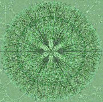 Mandala grafisch, groen van Rietje Bulthuis