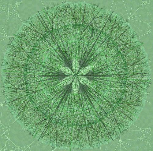 Mandala grafisch, groen