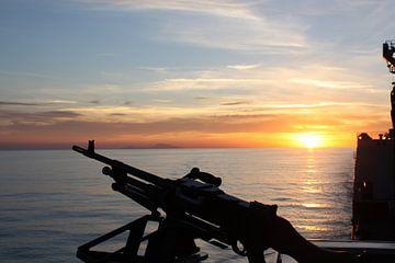 Zonsondergang bij de Marine von Gilian Fijen