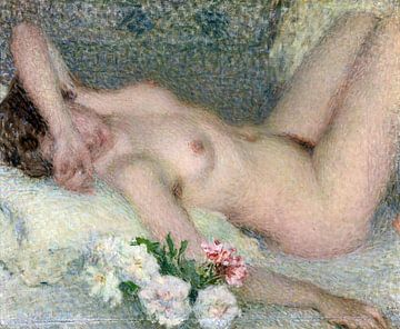 Nackt mit Blumen, Ernest Laurent - 1910 von Atelier Liesjes