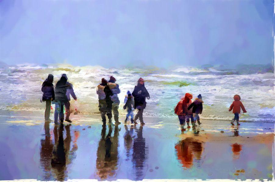 Strandwandeling van Frans Van der Kuil