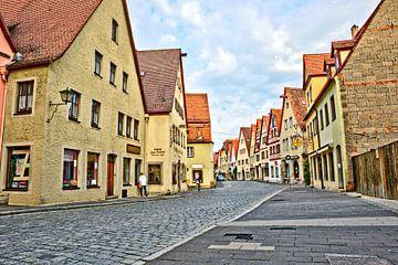 Rue principale Rothenburg ob der Tauber sur Roith Fotografie