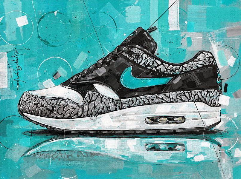Nike air max 1 Atmos Elephant  gemälde von Jos Hoppenbrouwers