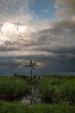 Molentje wacht op de storm von Rop Oudkerk