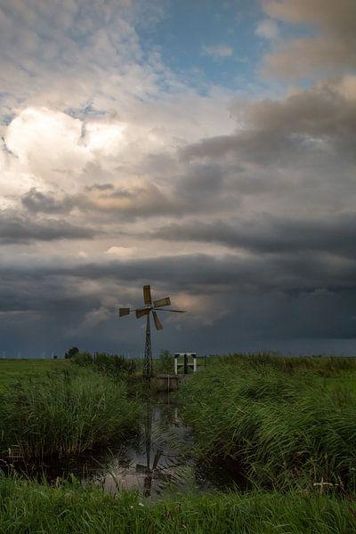 Molentje wacht op de storm van Rop Oudkerk