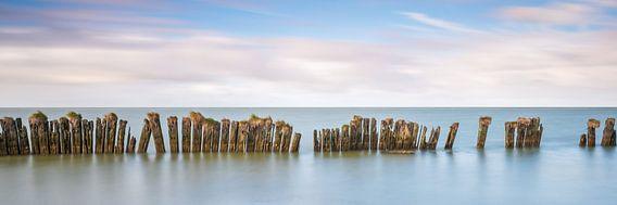 Oude zeewering in het IJsselmeer
