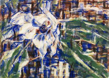 Blauwe magnolia stilleven, Christian Rohlfs, waarschijnlijk 1929