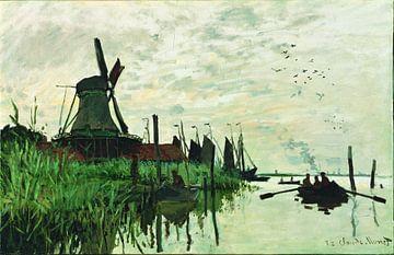 Molen bij Zaandam, Claude Monet van Meesterlijcke Meesters