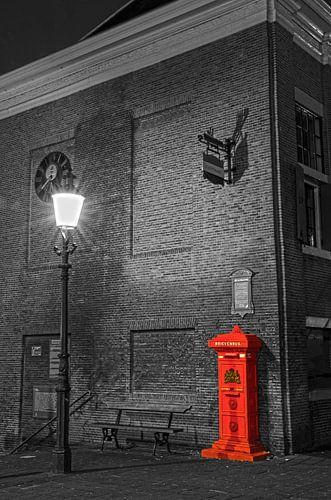 Historische brievenbus bij oude stadhuis Maassluis