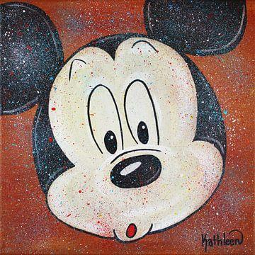 Mickey Mouse Hoo van Kathleen Artist Fine Art