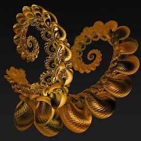 Skorpion Muschel aus purem Gold von Max Steinwald