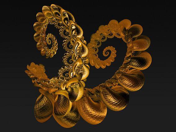 Schorpioen schelp gemaakt van puur goud