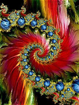 Blumen Garten Spiralen von Andree Jakobson