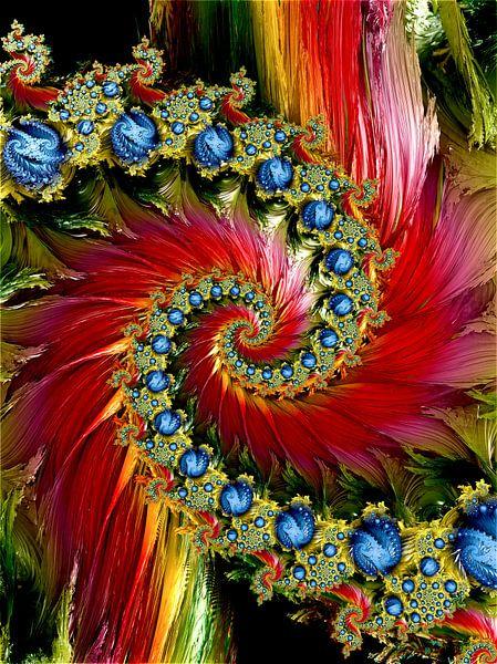 Blumen Garten Spiralen Poster Andree Jakobson Ohmyprints