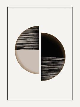 Moderne kunst - Black and Gold 1 van Studio Malabar
