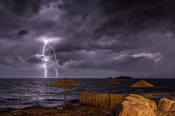 Onweer in Kroatië sur Sven van der Kooi