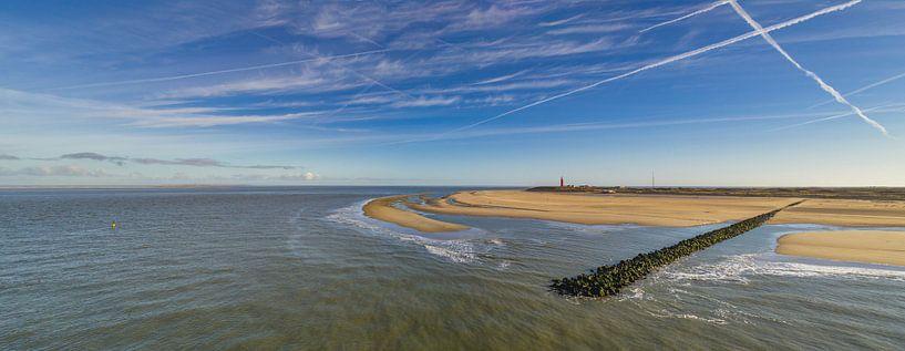 Vuurtoren met pier - Texel  van Texel360Fotografie Richard Heerschap