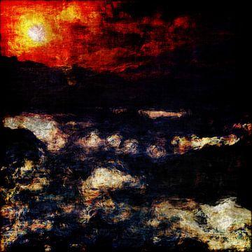 Indruk van een zeezicht van Jan Keteleer