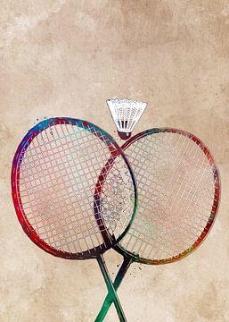 Badminton sport kunst #badminton van JBJart Justyna Jaszke