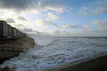 Storm aan zee sur Johan Töpke