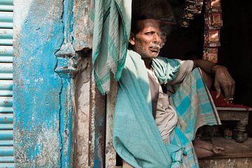 India, man in New Delhi van Annet van Esch