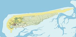Kaart van Schiermonnikoog