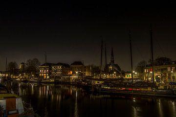 Der alte Hafen von Gouda von Eus Driessen