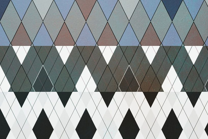 Ruiten, grafisch patroon van Rietje Bulthuis