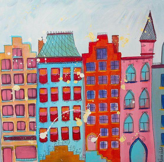 grachtenpanden uit Amsterdam van Nicole Roozendaal