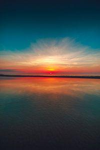 Vrouwenpolder zonsondergang
