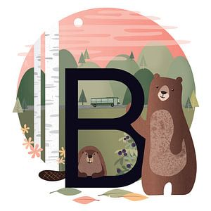B: der Bär und der Biber