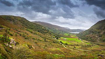 Panorama der Hügel von Wales, Großbritannien von Rietje Bulthuis