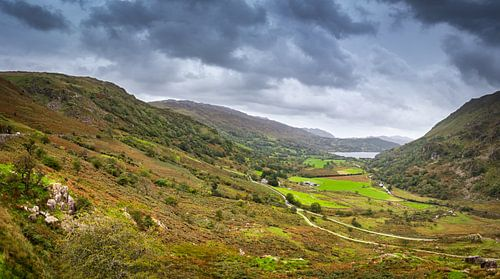 Panorama van de heuvels van Wales, Groot-Brittannië