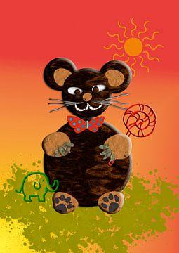 Kinderzimmerbild  -   Bär 2 van Rosi Lorz