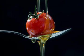 Tomate et huile d'olive sur Uwe Merkel