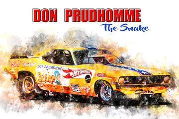 Don Prudhomme, Le serpent avec titre sur Theodor Decker