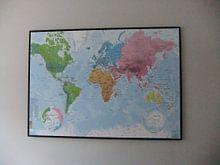 Kundenfoto: Weltkarte, Kontinente und Ozeane von MAPOM Geoatlas, auf leinwand